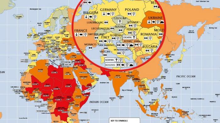 Черный список городов потенциальных целей террористов