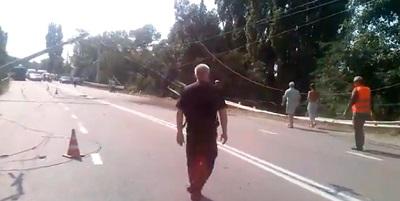 Видео ДТП с участием танка в Крыму