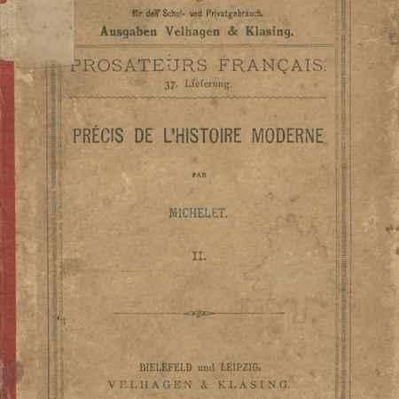 Купить J. Michelet Precis de L'Histoire Moderne. II