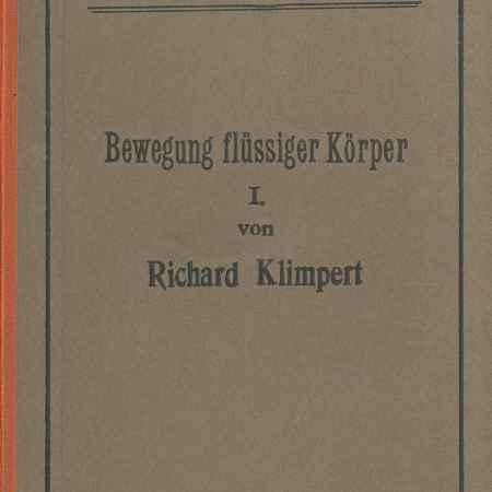 Купить Richard Klimpert Bewegung flussiger Korper: Lehrbuch