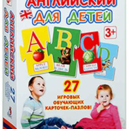 Купить Робинс Развивающая игра. Английский для детей. Карточки-пазлы. Изд.: Робинс