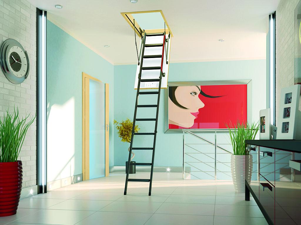 Устанавливаем складную лестницу на чердак