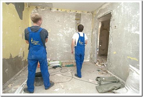 Обработка потолка и фасадные работы