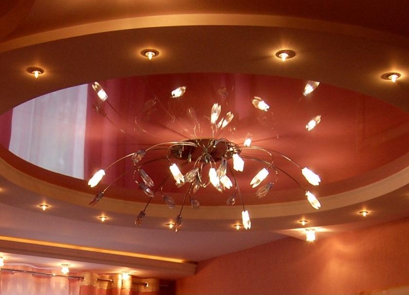 Люстры и точечные светильники