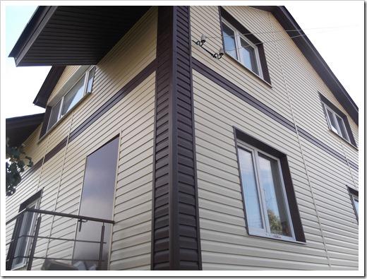Монтаж сайдинга на деревянный дом