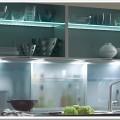 Стеклянный интерьер для кухни