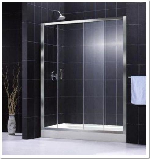 Вулканическое стекло для создания двери в душ