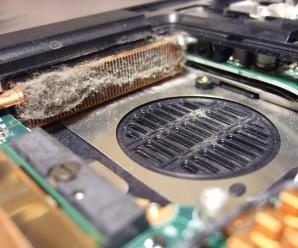 грязный ноутбук