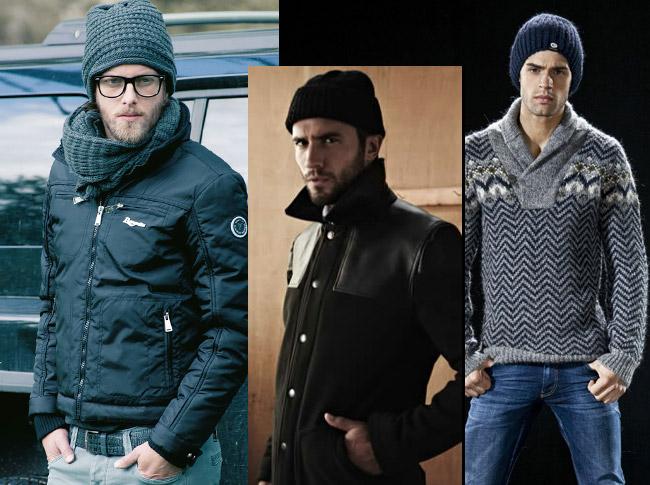 Сочетание шапок и одежды