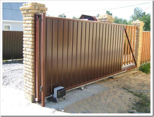 Откатные ворота для дачи и не только