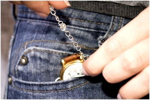как носить карманные часы