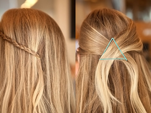 как заколоть волосы
