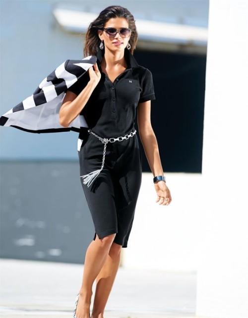 С чем носить платье поло