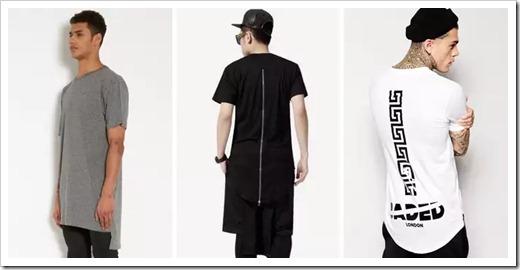 Материалы, которые используются для производства удлинённых футболок