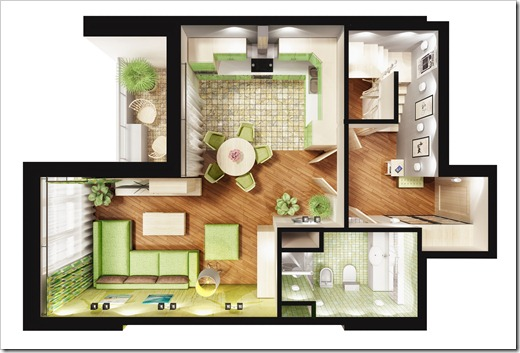 Двухкомнатные и трёхкомнатные квартиры
