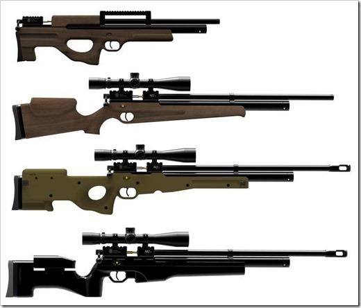 Классификация пневматических винтовок