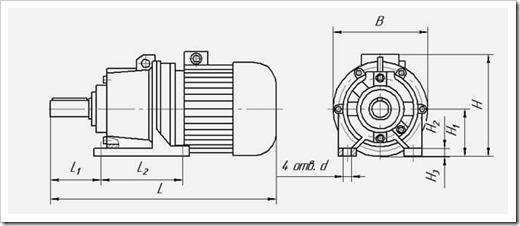 Планетарные мотор-редукторы МПО 2